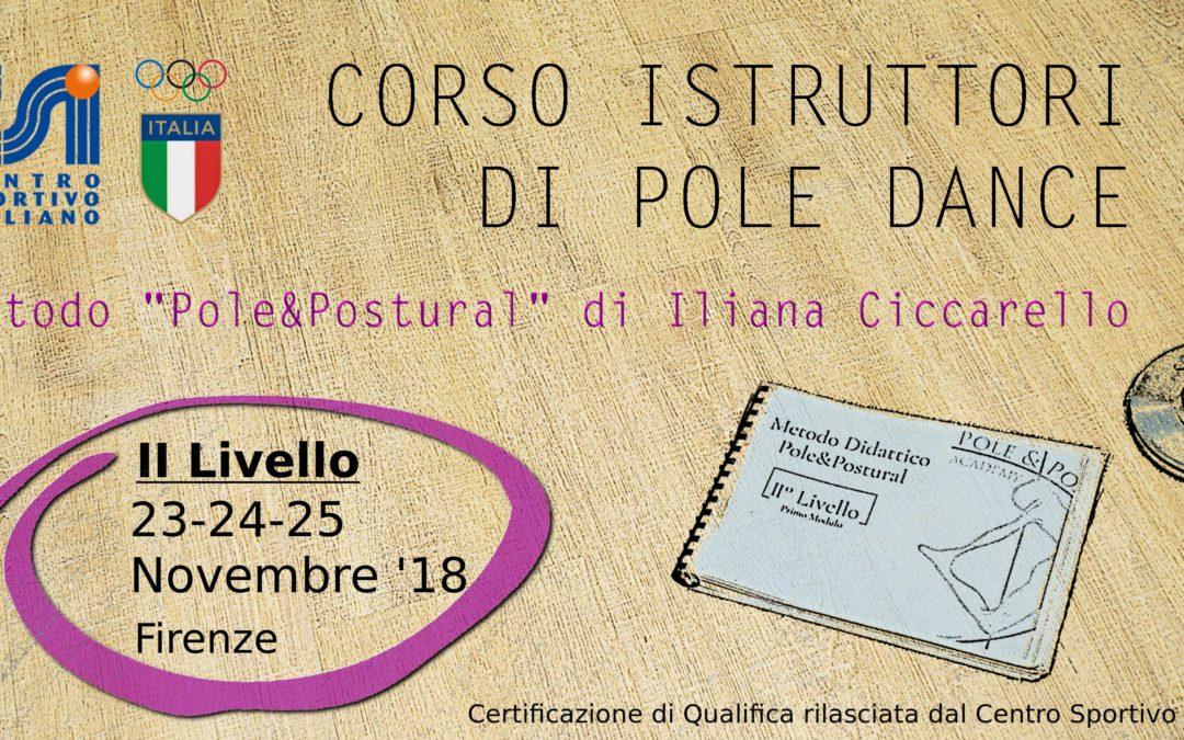 Corso Istruttori Pole Dance metodo Pole&Postural©