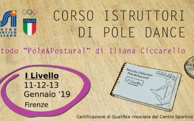 Corso Istruttori I Livello Pole Dance metodo Pole&Postural©