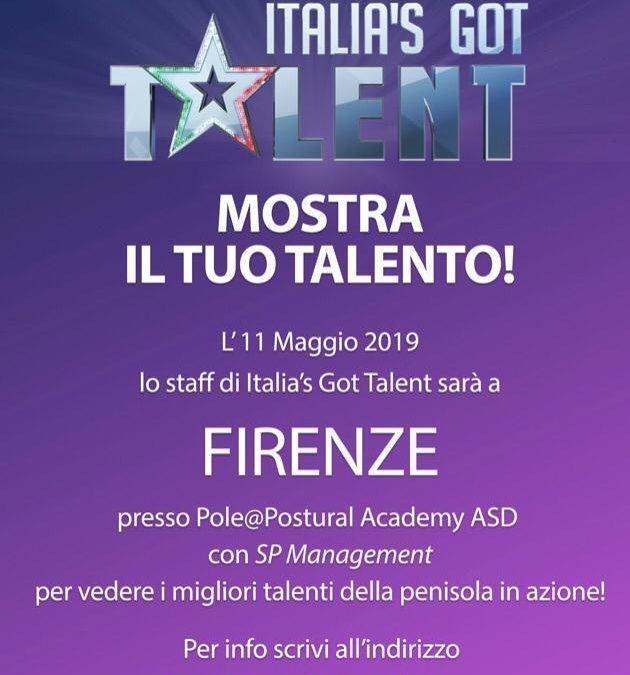 Provini Italia's Got Talent a Firenze